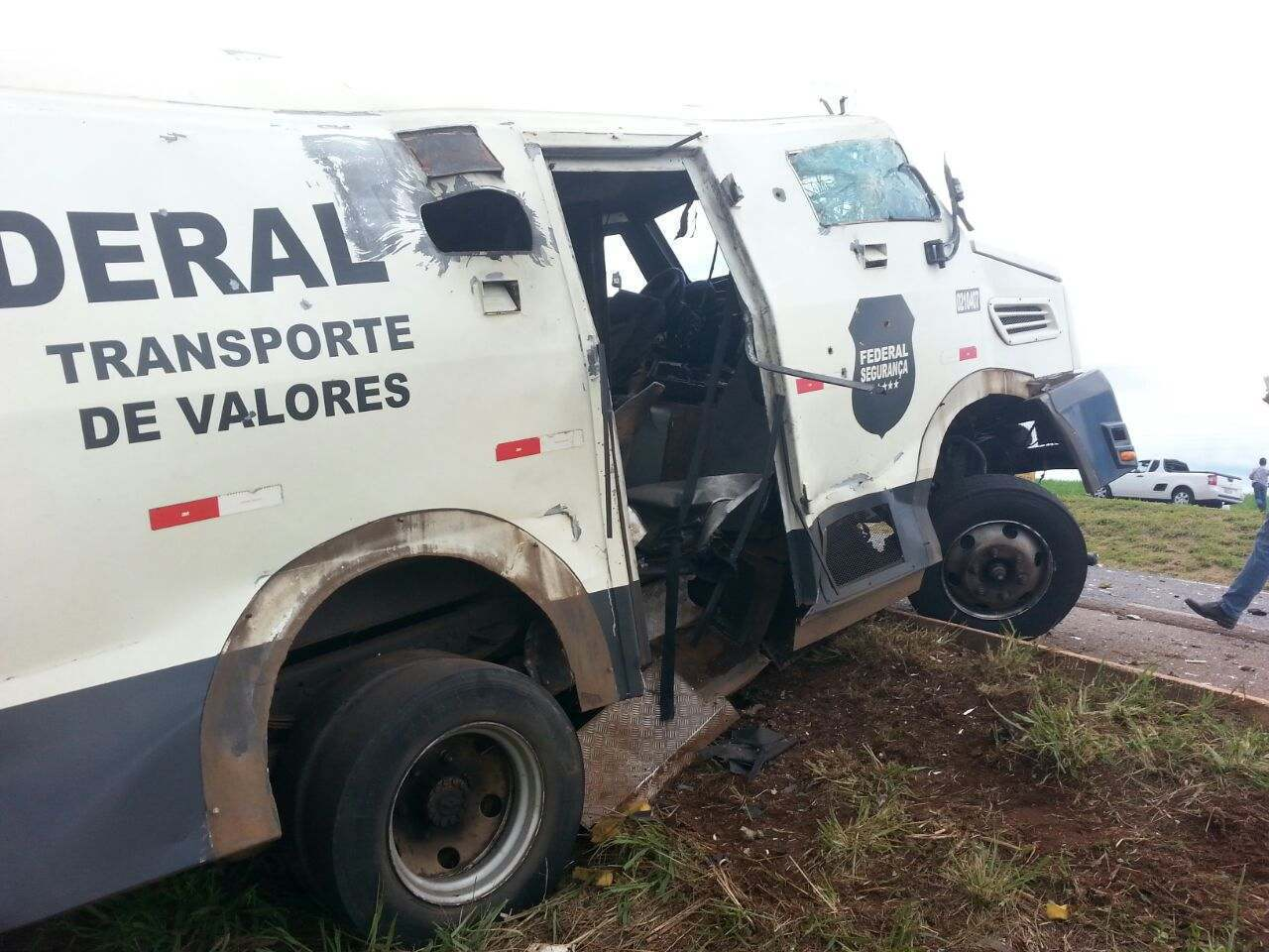 Carro forte explosao Federal Seguranca